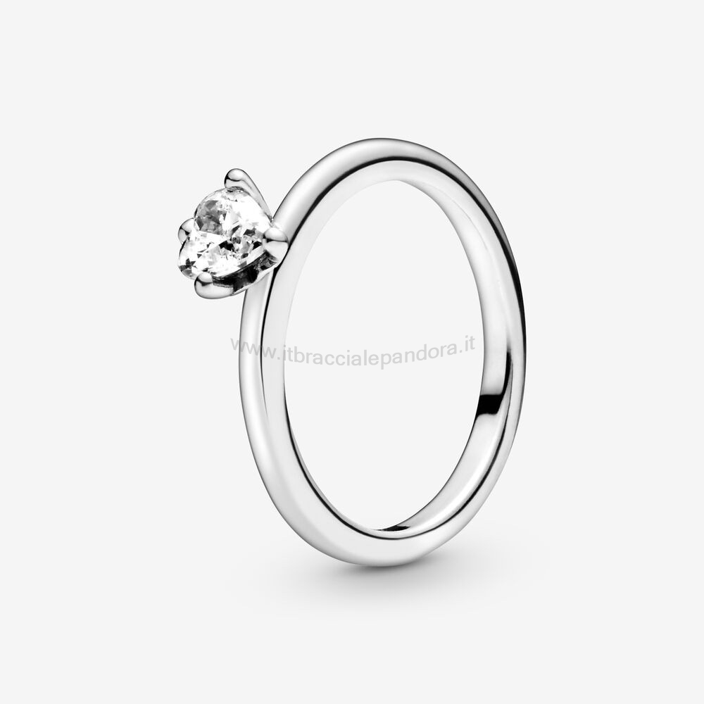 Outlet Pandora Cuore Incolore Solitaire Anelli