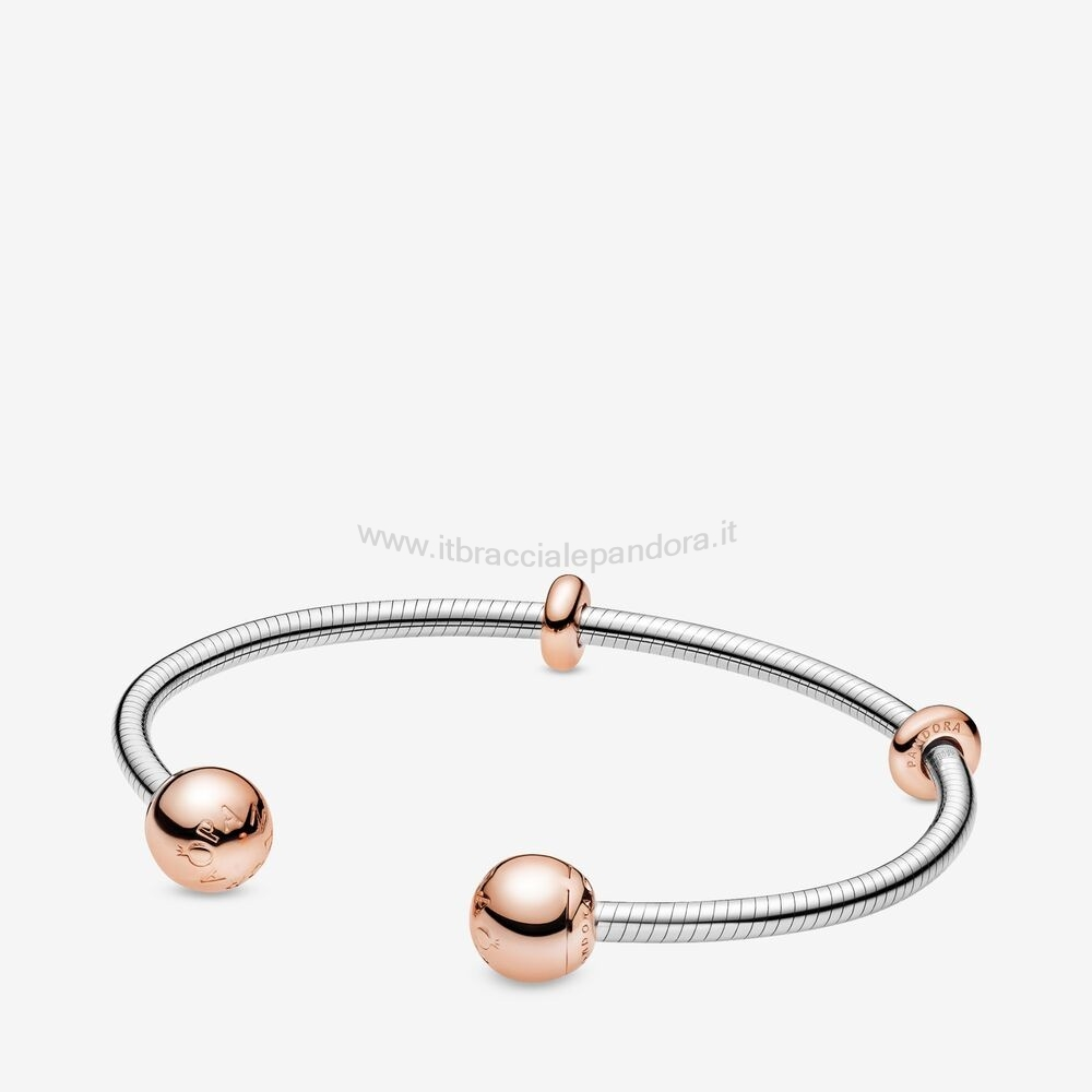 Outlet Pandora Pandora Rose Catena Stile Serpente Aperta Bracciali