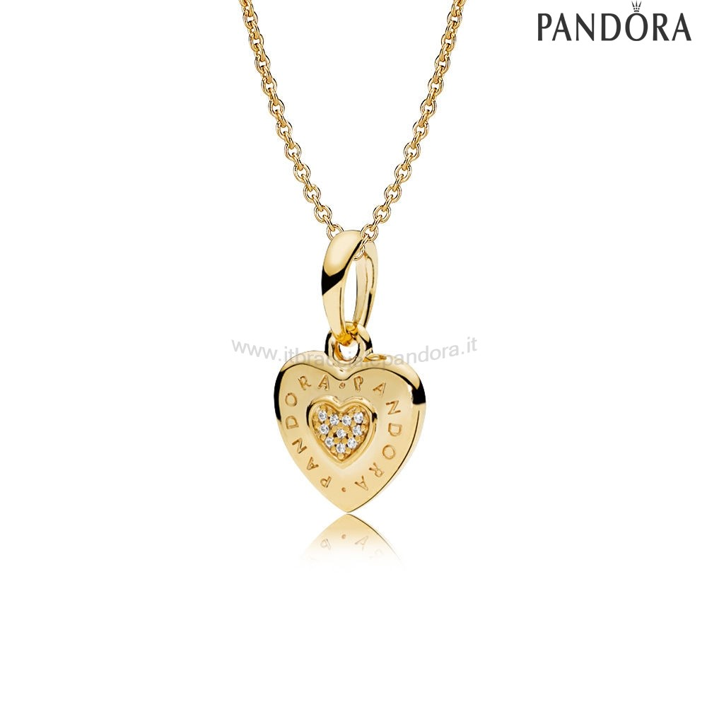 Outlet Pandora Pandora Shine Logo Cuori Collane