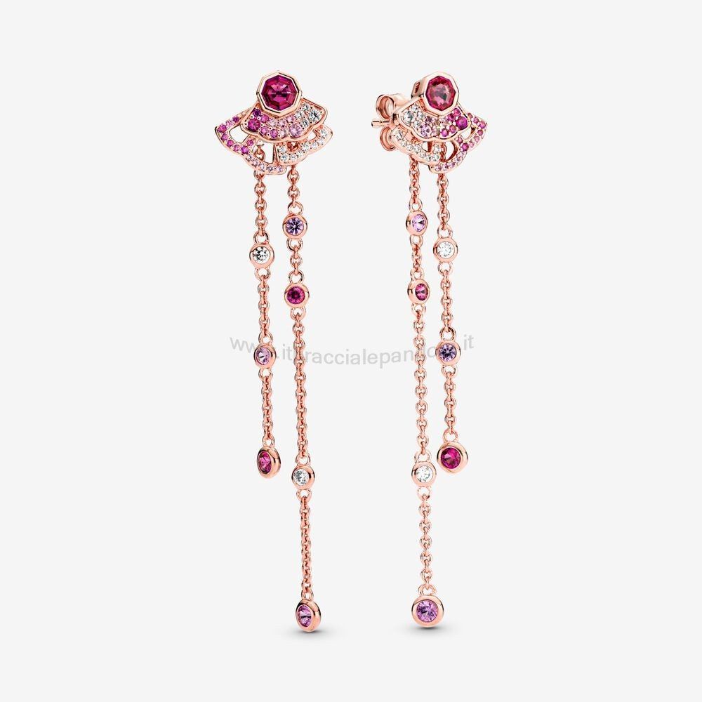 Outlet Pandora Pink Fan Dangle Orecchini