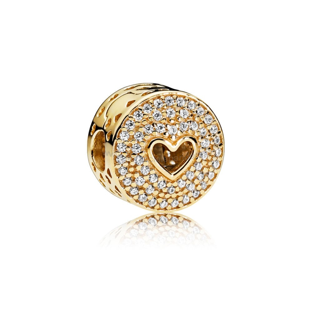 Outlet Pandora Cuore Di Lusso 14Ct Gold Clip