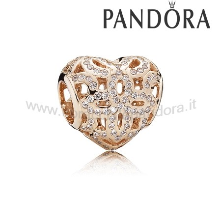Outlet Pandora Amore Appreciation Charm Rosa& Chiaro
