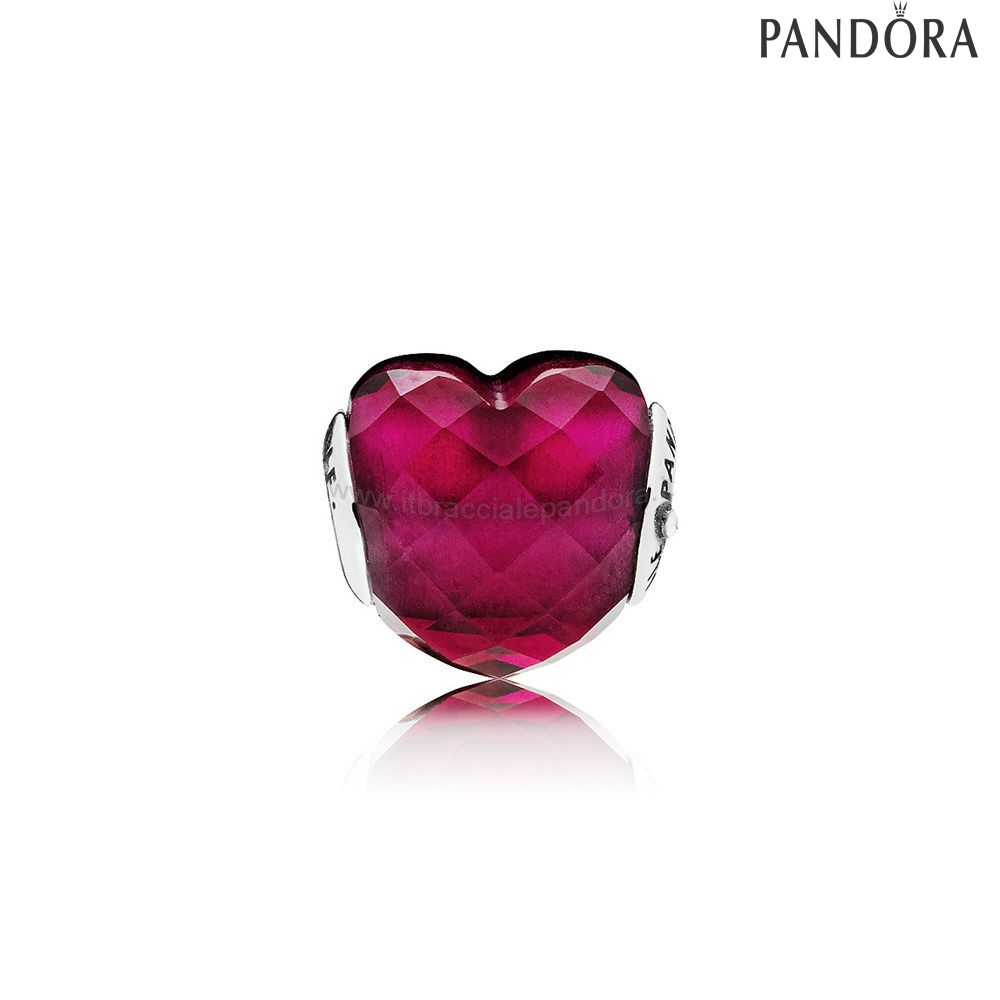 Outlet Pandora Amore Charm Fuchsia Red Crystal