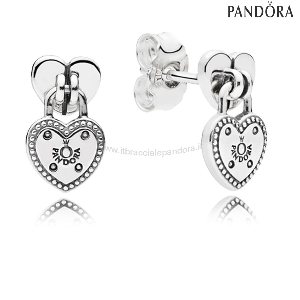 Outlet Pandora Amore Locks Stud Earrings