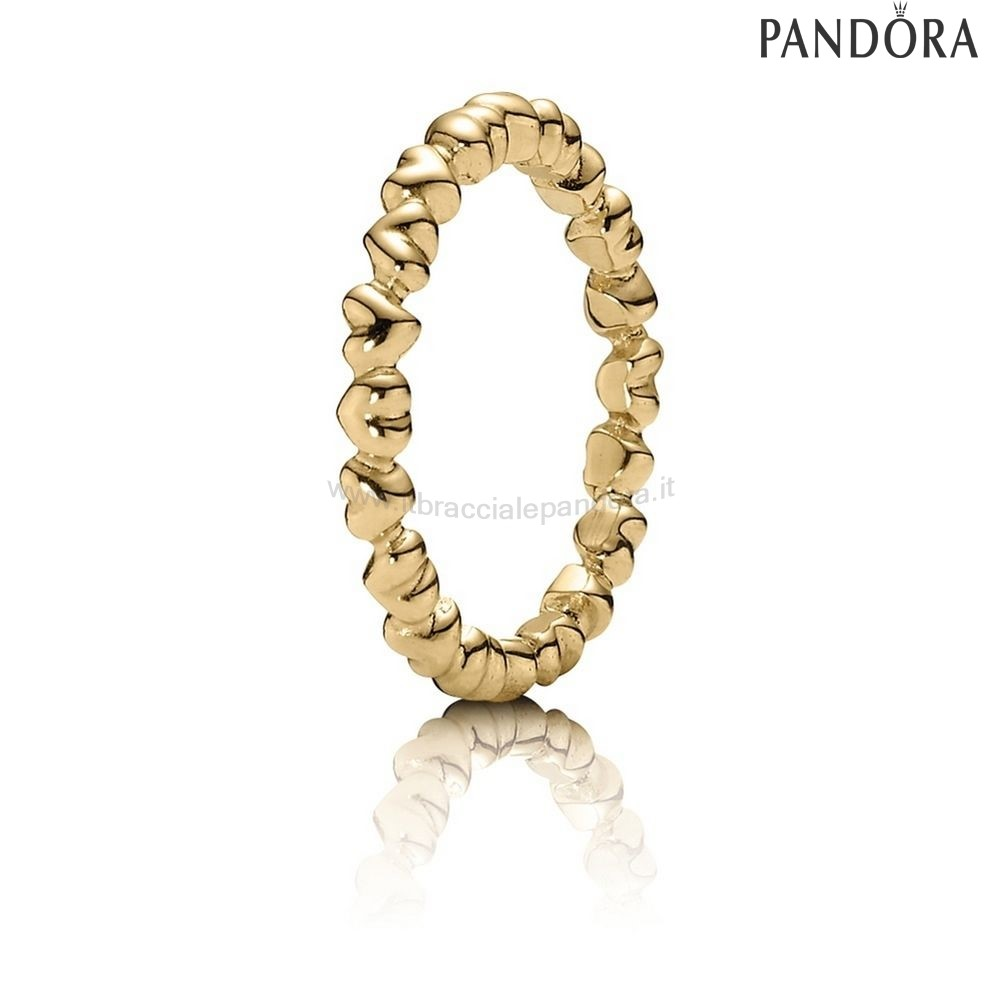 Outlet Pandora Anelli Amore Eterno Cuore 14K Oro