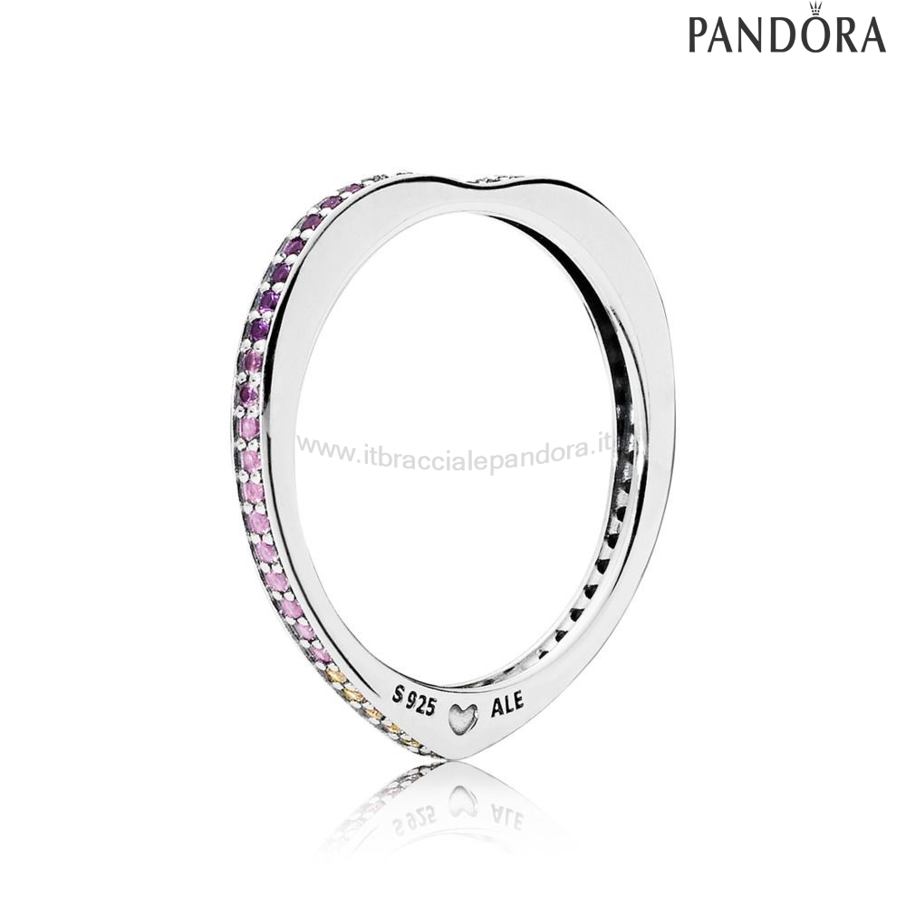 Outlet Pandora Arcobaleno Archi D'Amore Anelli