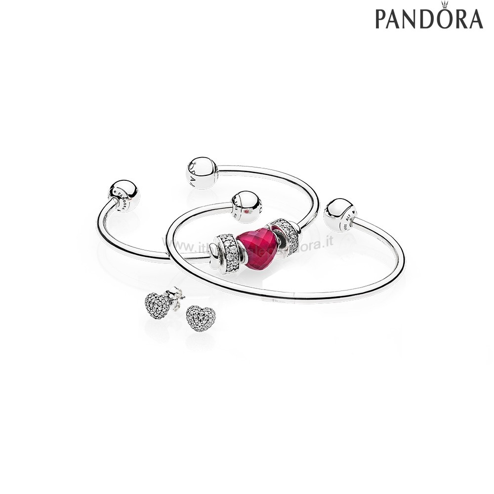 Outlet Pandora Be Mine Stacked Open Bangle Regalo