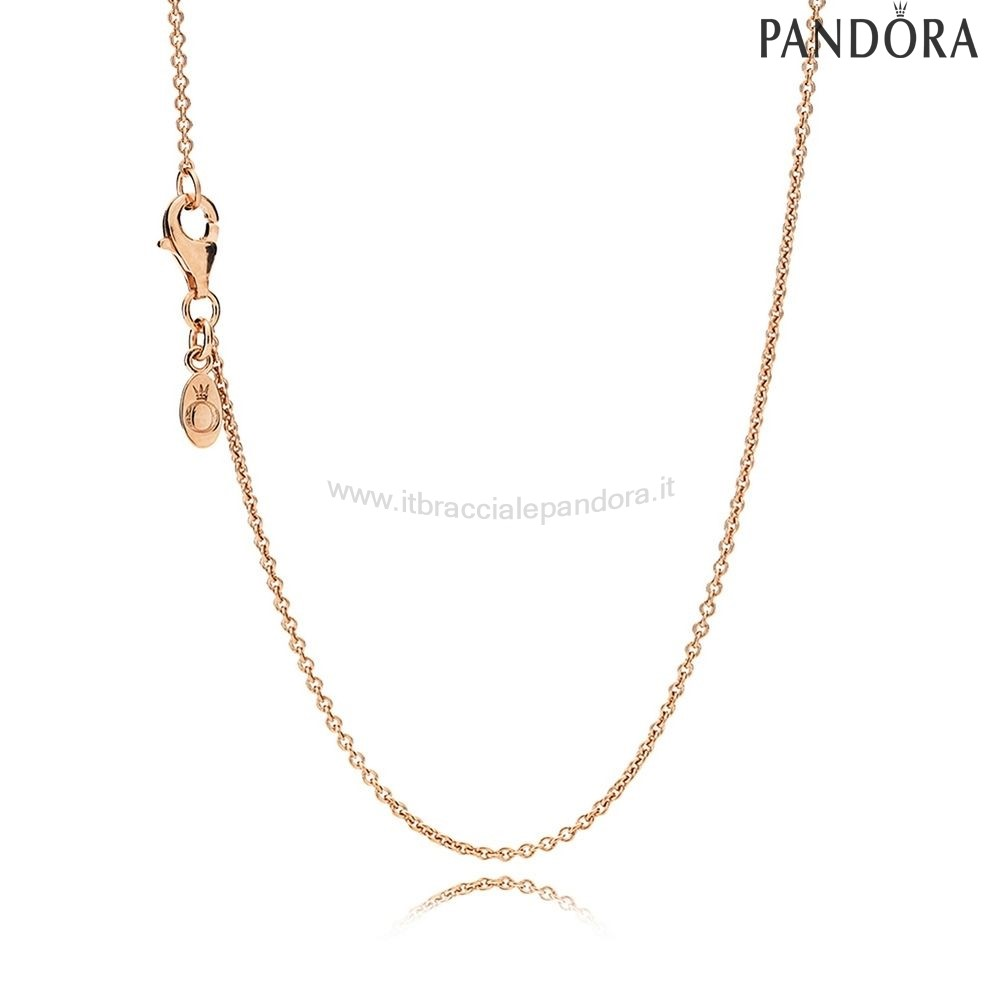 Outlet Pandora Catene Collana Argento Sterlina Rose Oro