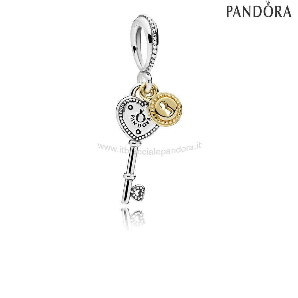 Outlet Pandora Chiave To My Cuore Dangle Charm
