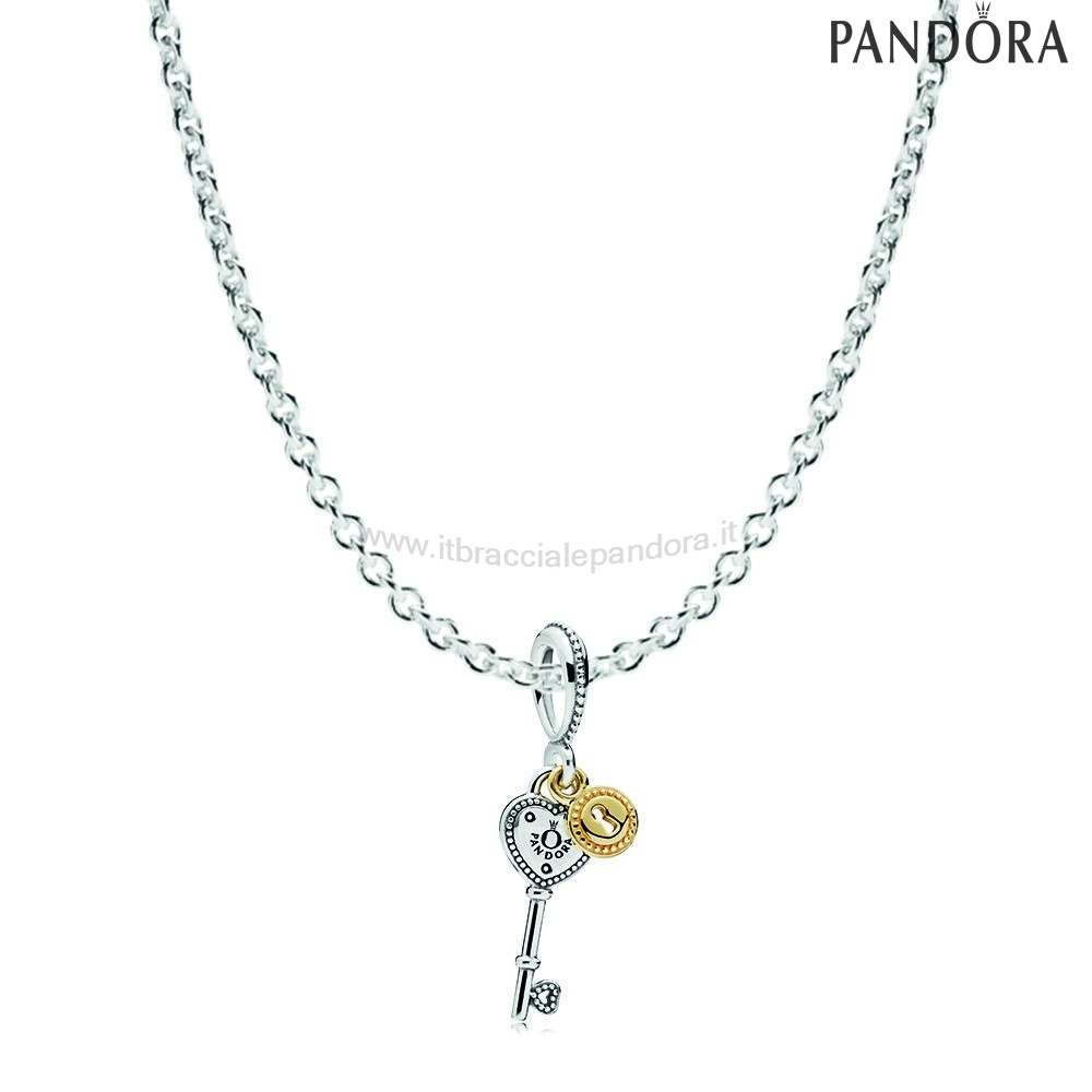 Outlet Pandora Chiave To My Cuore Necklace Regalo
