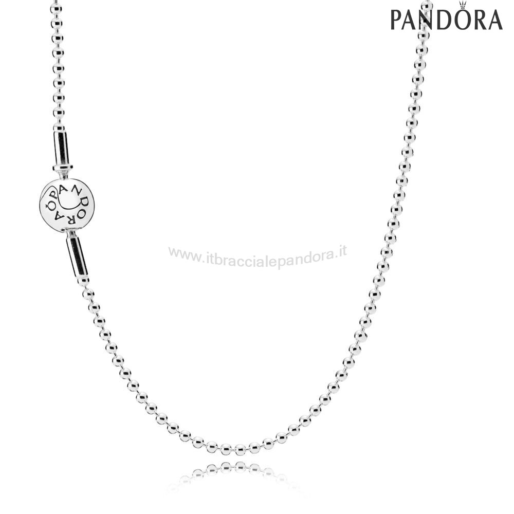 Outlet Pandora Collana Essence In Argento
