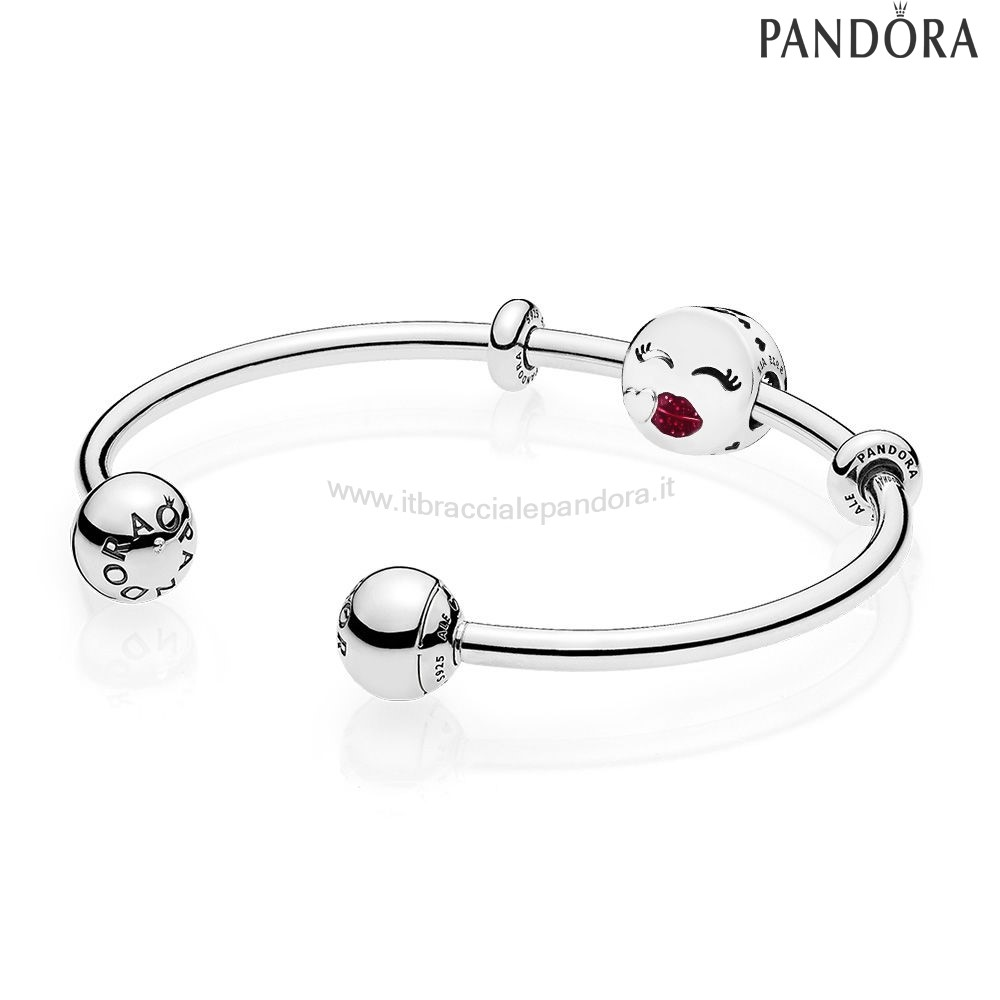 Outlet Pandora Cute Bacio Open Bangle Regalo