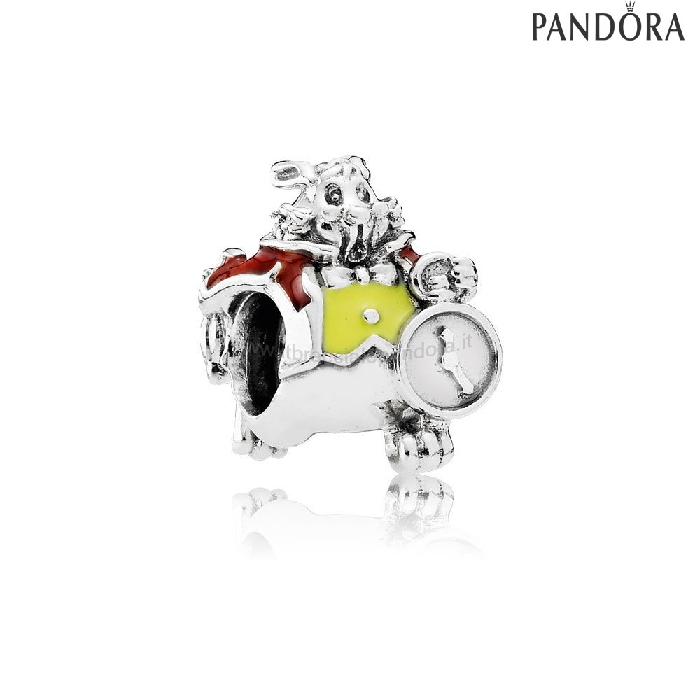 Outlet Pandora Disney Charms Bianca Coniglio Charm Misto Smalto