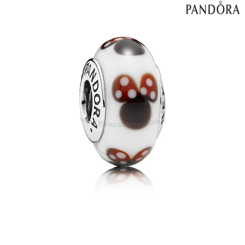 Outlet Pandora Disney Charms Classico Disney Minnie Murano Bicchiere