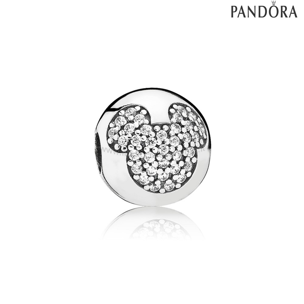 Outlet Pandora Disney Charms Mickey Pave Clip