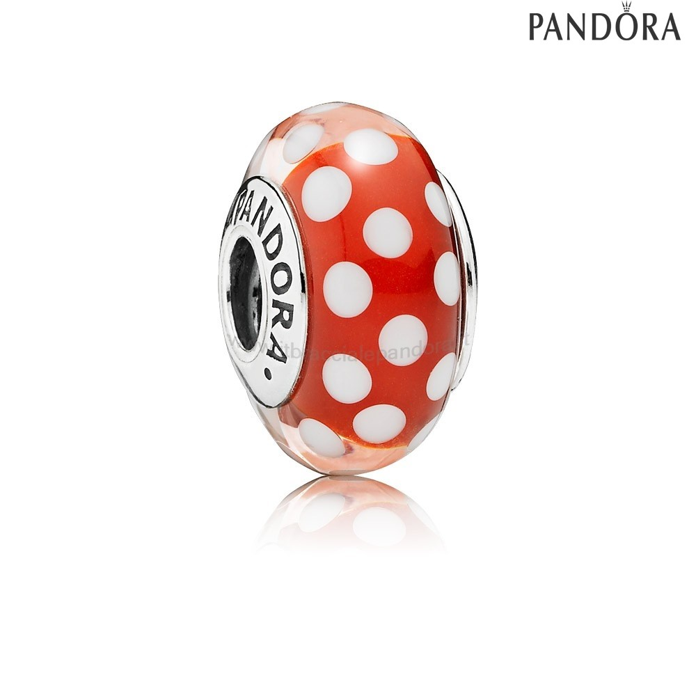Outlet Pandora Disney Charms Minnie'S Sguardo Signature Charm Murano Bicchiere