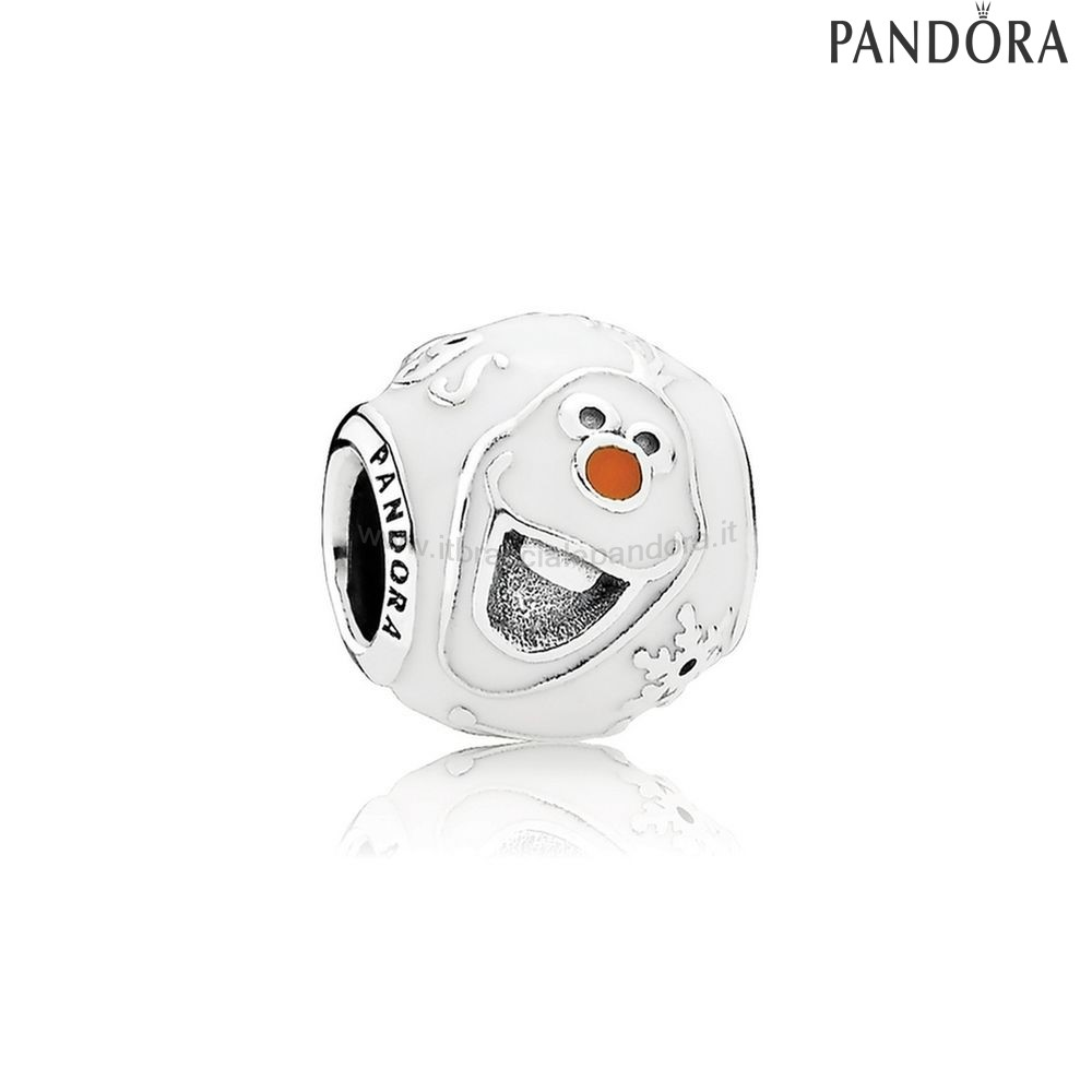 Outlet Pandora Disney Charms Olaf Misto Smalto