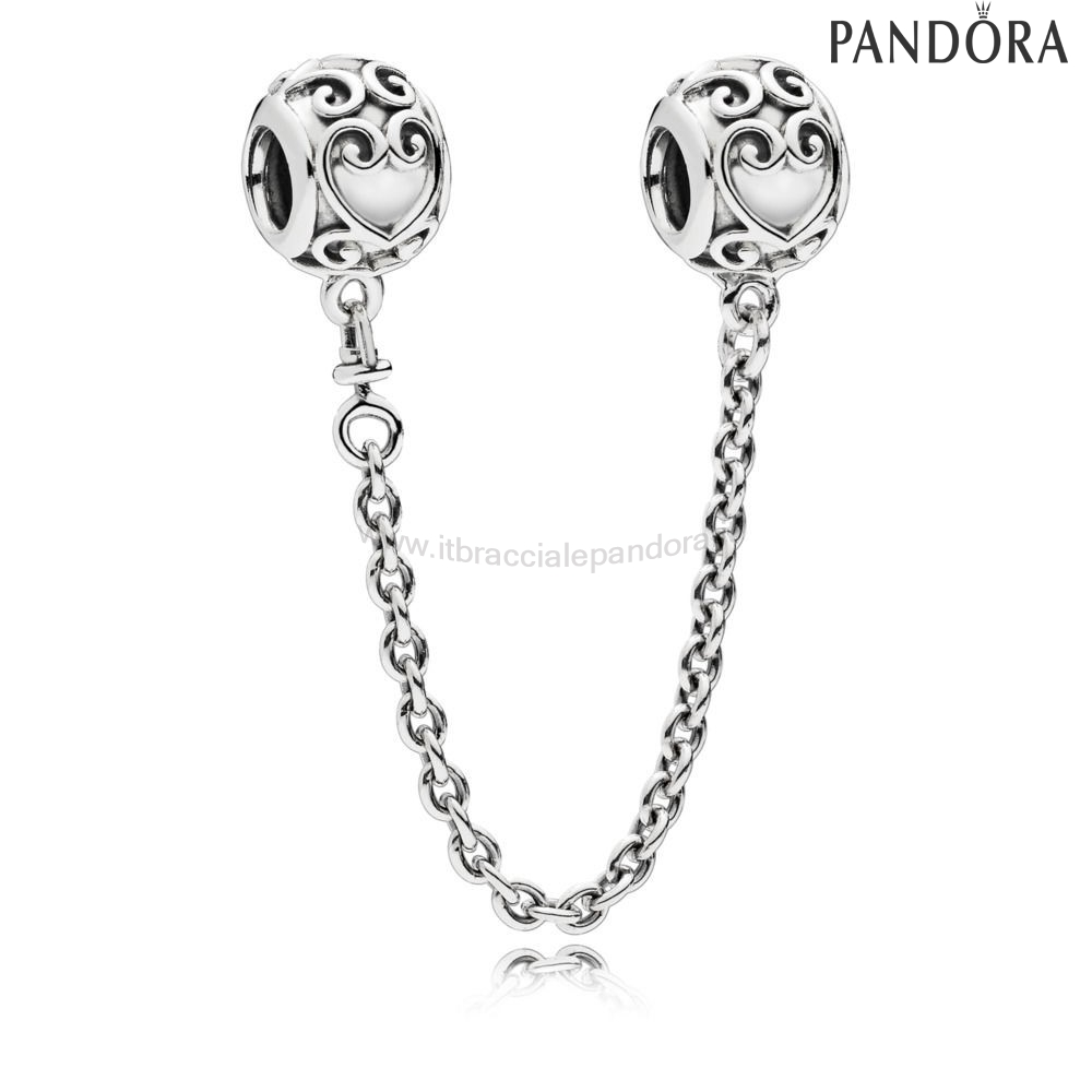 Outlet Pandora Enchanted Cuore Sicurezza Catena