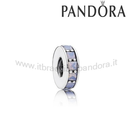 Outlet Pandora Eternita Distanziatore Cristallo Bianco Opalescente