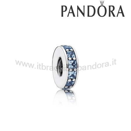 Outlet Pandora Eternita Distanziatore Cristallo Blu Cielo