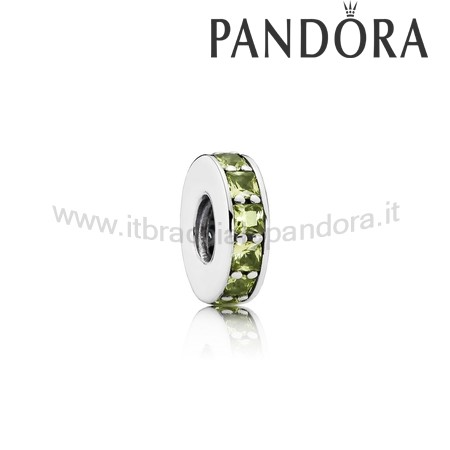 Outlet Pandora Eternita Distanziatore Cristallo Verde Oliva