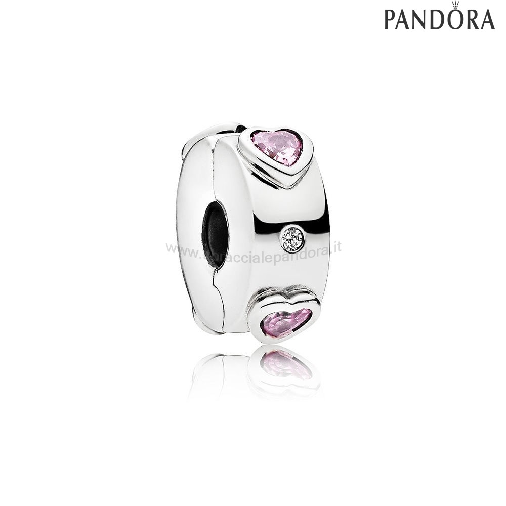 Outlet Pandora Explosion Of Amore Clip Fancy Fuchsia Pink Clear