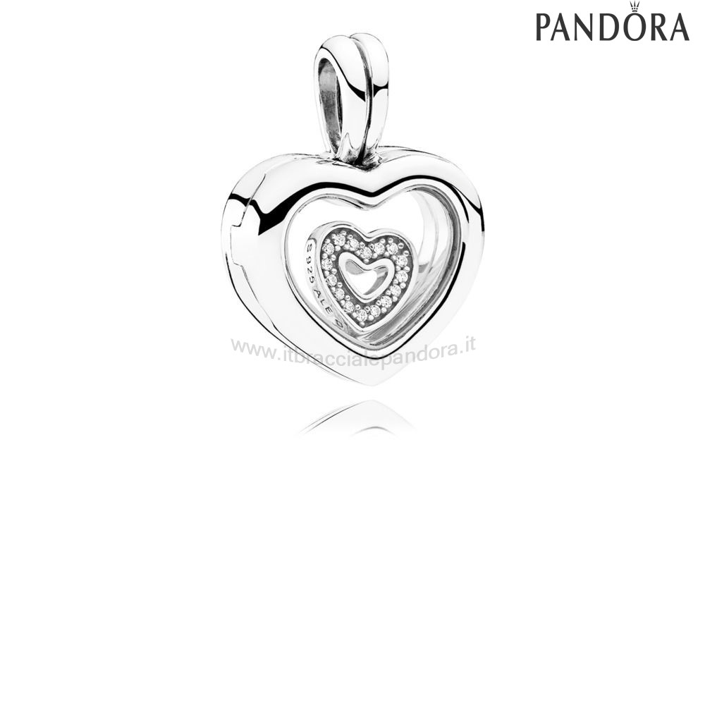 Outlet Pandora Floating Cuore Locket