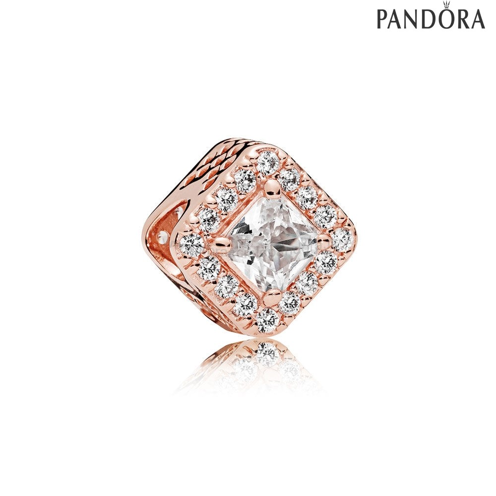 Outlet Pandora Geometric Radiance Charm Rose Chiaro