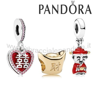 Outlet Pandora Happiness Fortune And Luck Charm Pack