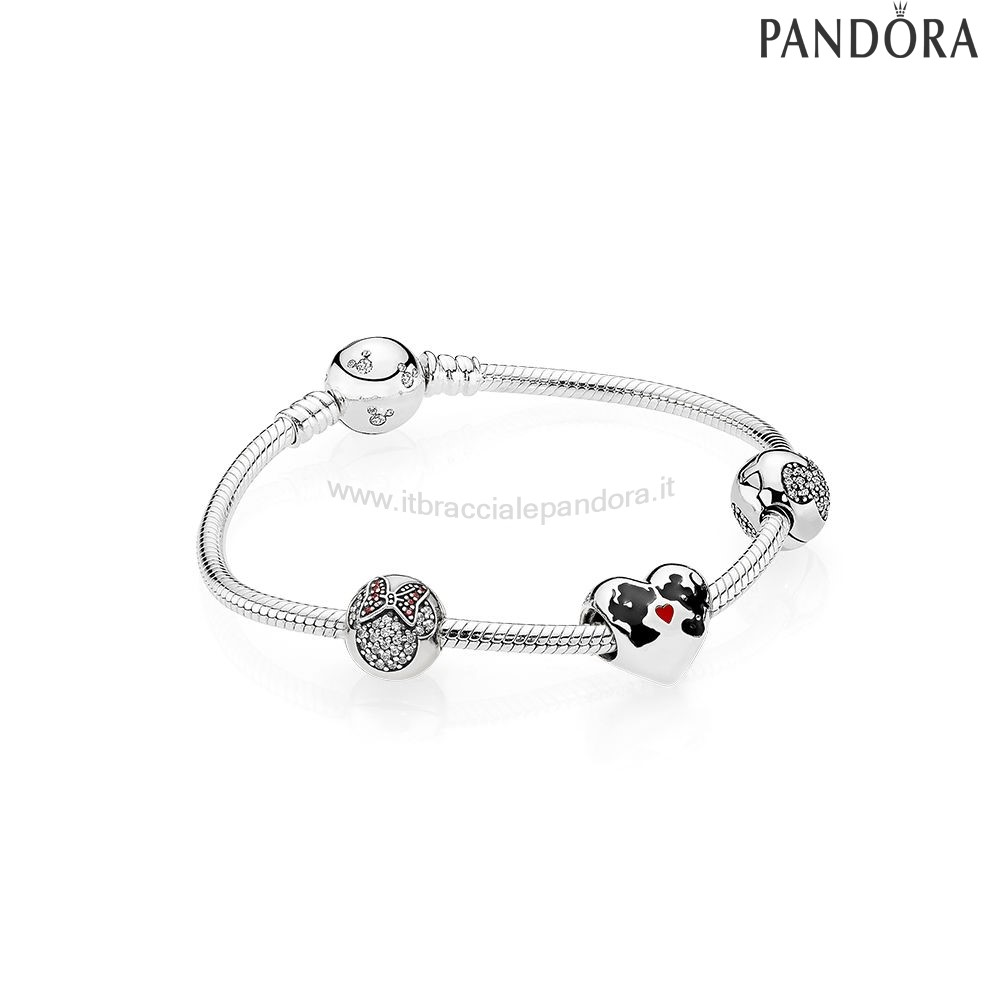 Outlet Pandora Il Bacio Di Mickey Mouse E Minnie