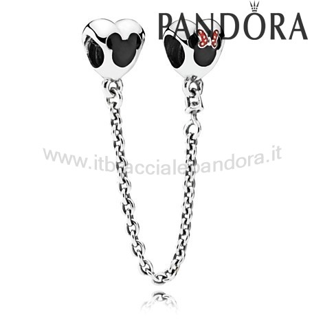 Outlet Pandora Mickey And Minnie Mouse Sicurezza Catena