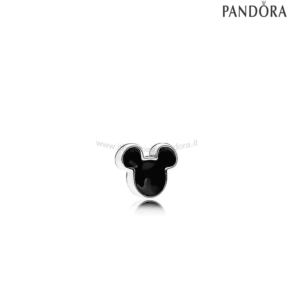 Outlet Pandora Mickey Icona Petite Charm Nero Smalto
