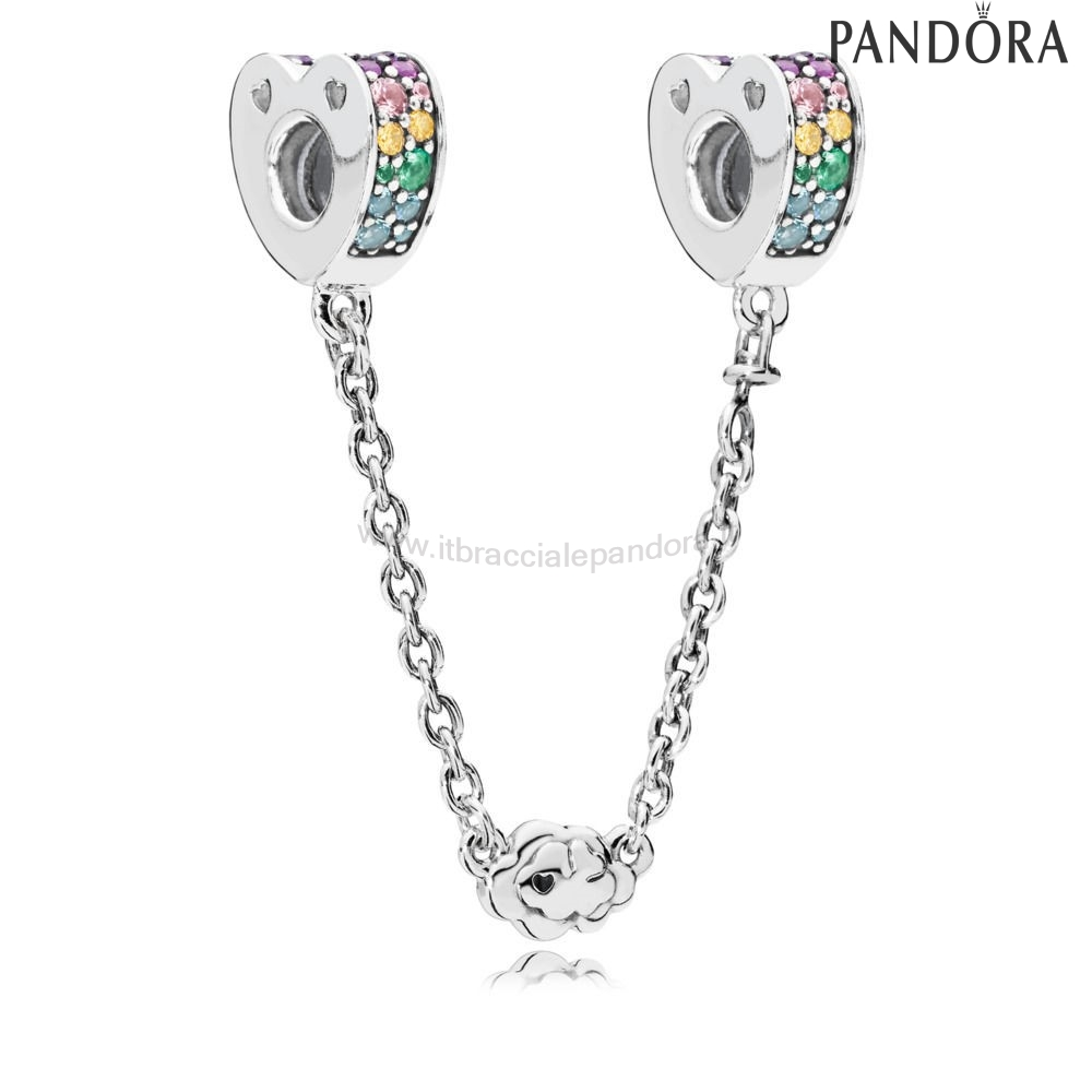 Outlet Pandora Multi Colour Archi D'Amore Sicurezzacatena
