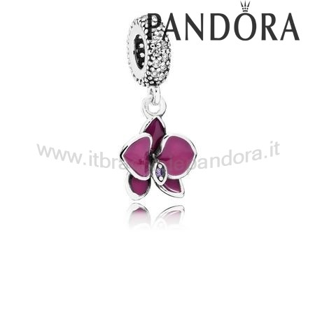 Outlet Pandora Orchidea Penzolare Radiante Orchidea Colored Smalto