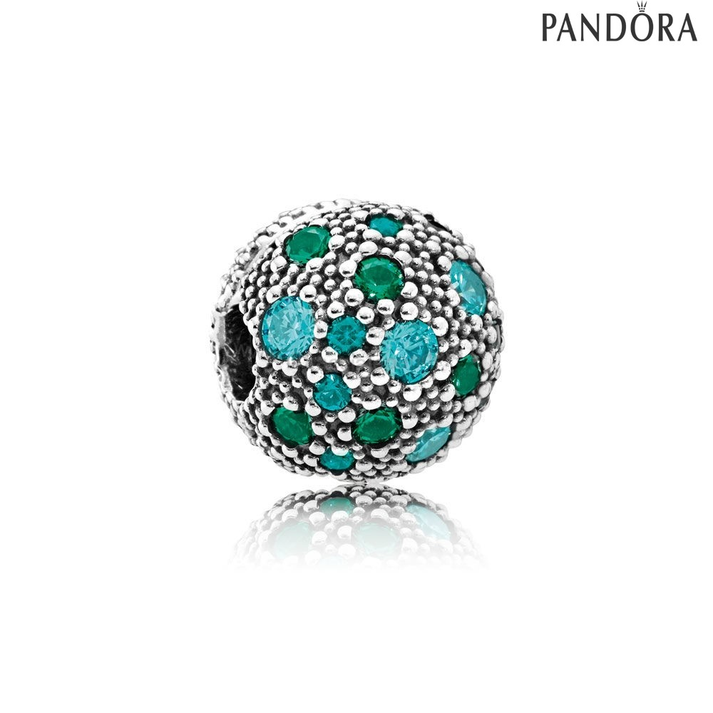 Outlet Pandora Stelle Cosmiche Multicolore Cristallos Teal Charm
