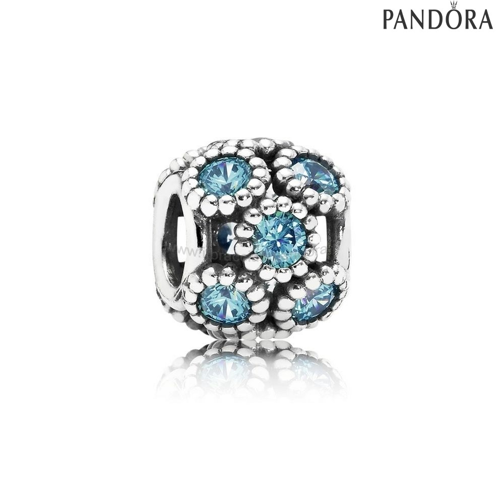Outlet Pandora Studded Luci Charm Teal