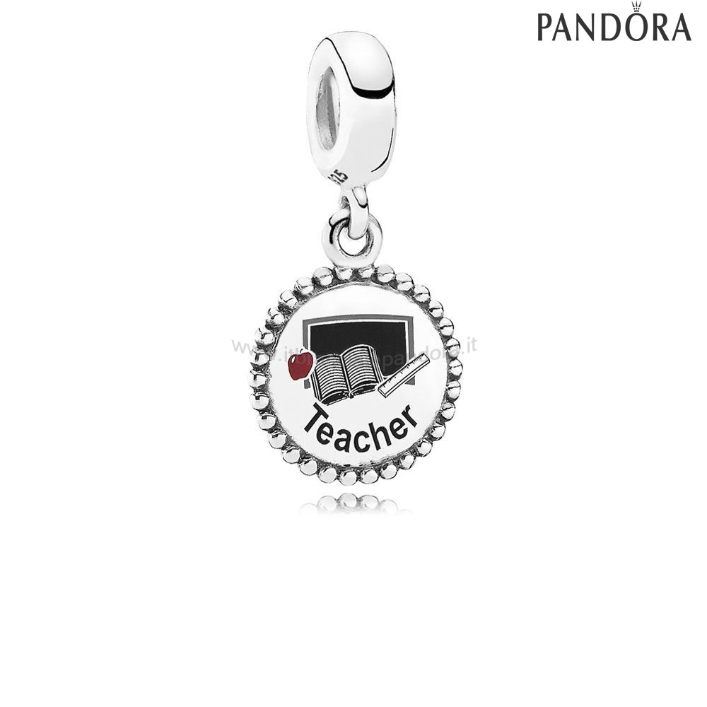 Outlet Pandora Teacher Dangle Charm Mixed Enamel