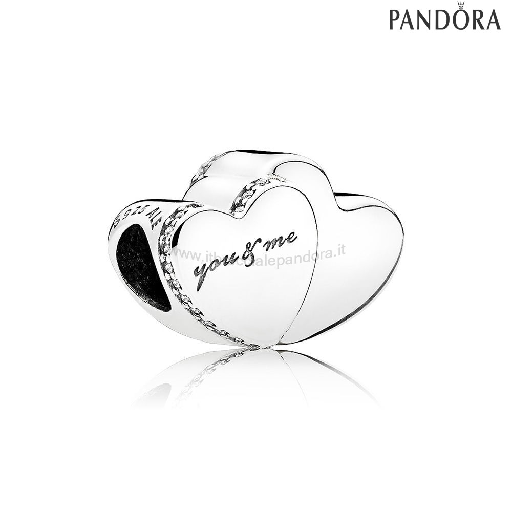 Outlet Pandora Two Cuores Charm Clear