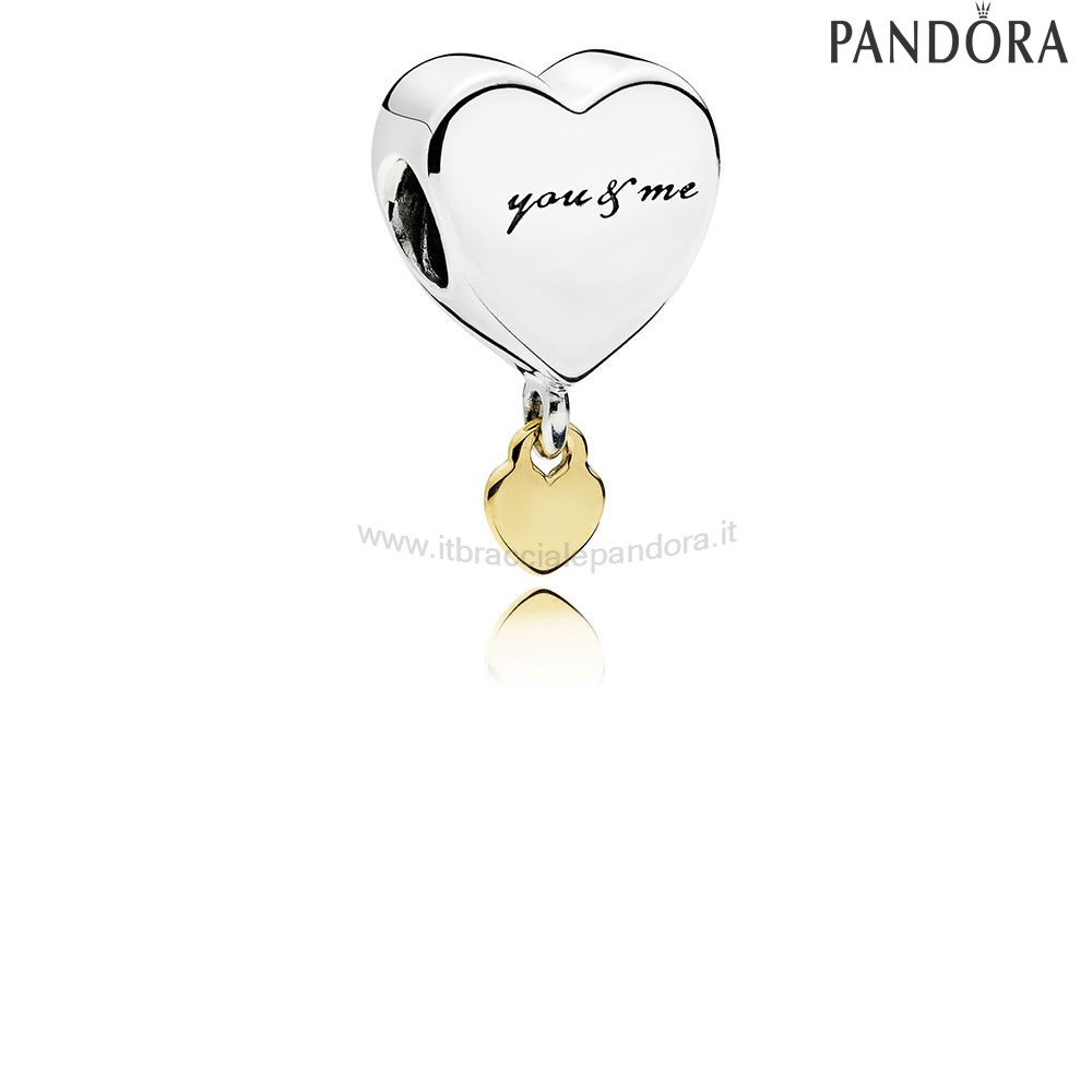 Outlet Pandora Two Cuores Dangle Charm