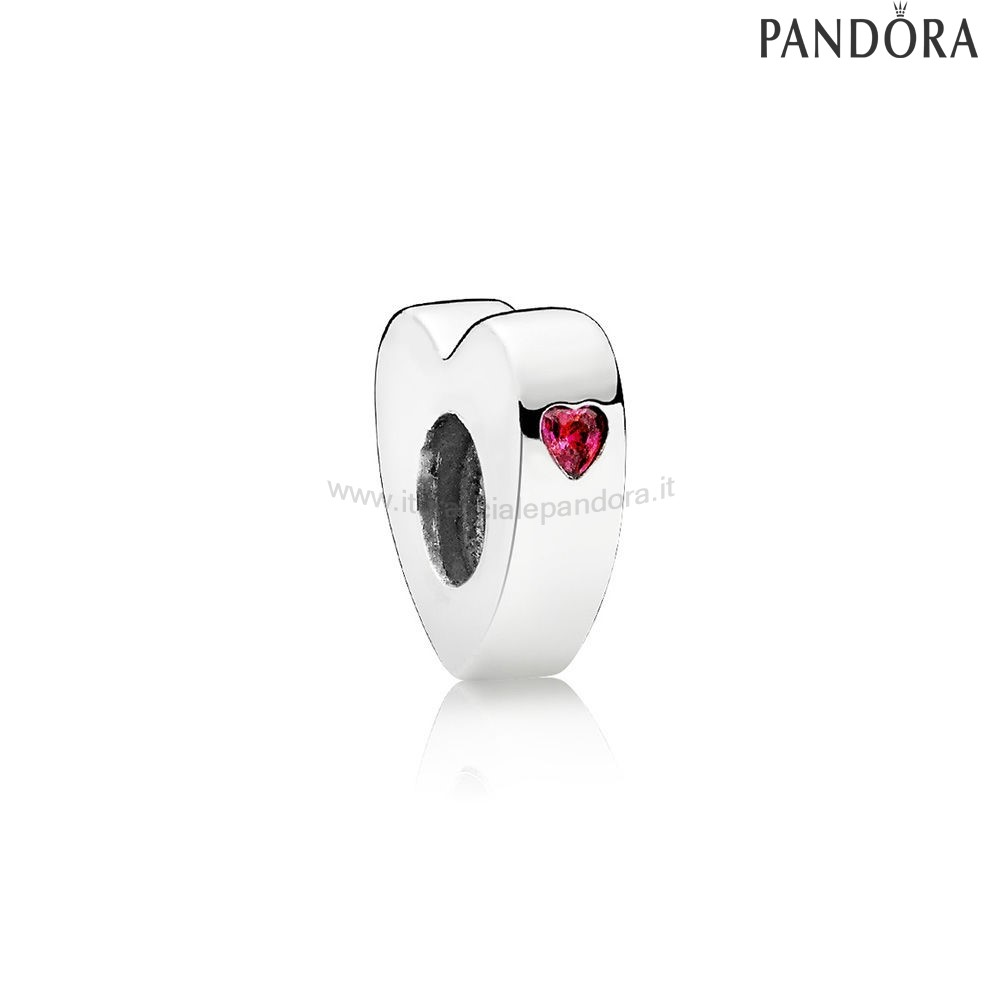 Outlet Pandora Two Cuores Spacer Clear